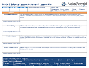 Math and Science Lesson Plan