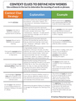 Reading Comprehension Strategy Tool - Define Unfamiliar Words Using Context Clues in the Text