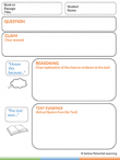Reading Comprehension Graphic Organizer Tool – Finding Text Evidence