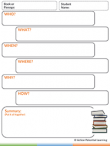 Reading Comprehension Graphic Organizer Tool – Who, What, Where & When Summary